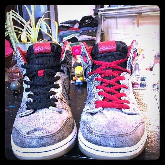 quality design f1892 5746b Nike Sb Dunk High Salt Stains Size 10.5!